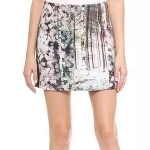 Tibi Forrest Printed Mini Skirt, Size 8